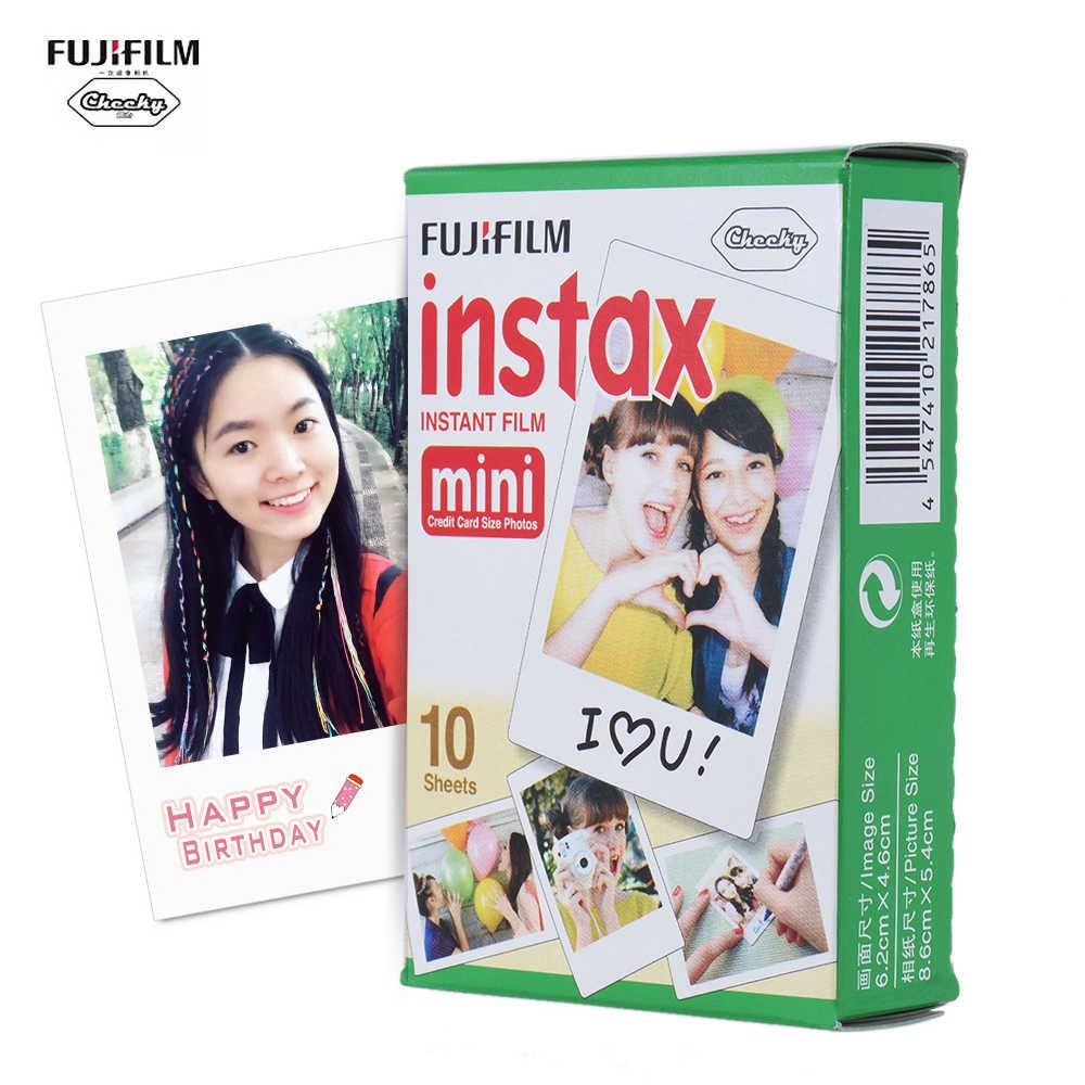 10-200 ورقة Fujifilm Instax فيلم أبيض صغير ورق طباعة الصور لقطة ألبوم الطباعة الفورية ل Fujifilm Instax Mini 7 s/8/25/90/9