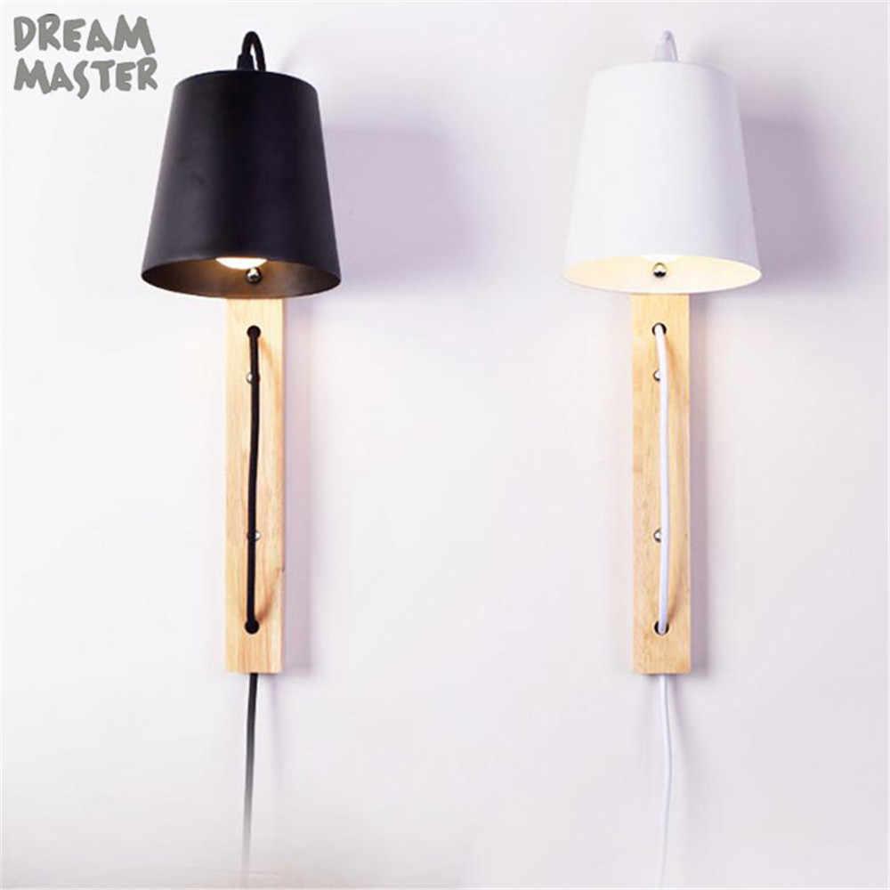 Wall Light With Plug Led Lamp Iron
