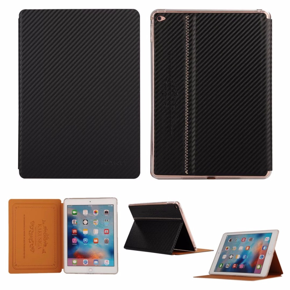 Original KAKU Fashion Ultra thin Carbon Fibre Style Smart Cover for iPad Mini 4 Luxury Flip Stand Case PU Leather Tablet Case ultra thin stand design pu leather case for ipad mini 4 cover colorful option flip smart cover tablet case free shipping