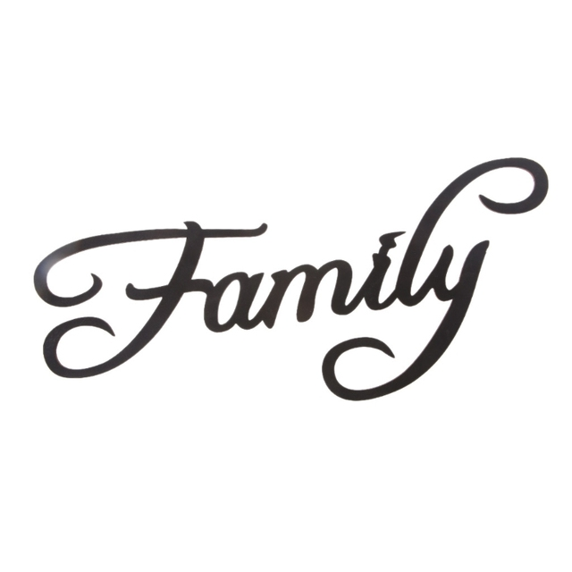 Family Letter Word Wood Hanging Sign Wall Decal Sticker Room Home Decor Ornament Decoration Accessories
