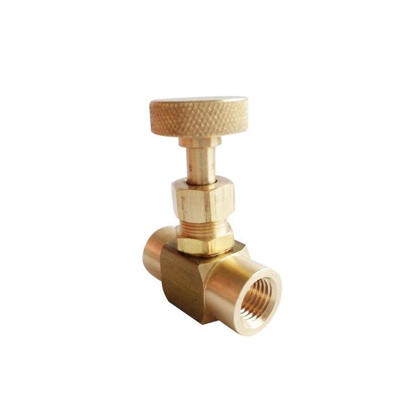 "G(bspp) 1/4"" Female Brass Needle Valve 1000 WOG NV5-G1/4"