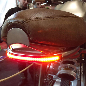 Motorcycle For Scrambler Cafe Racer LED Lights Brake Taillight Turn Signal Tail Light Rear License Plate Light New