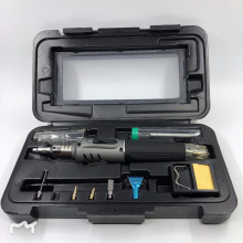 Welding soldering iron tool kit 10 in 1 soldering iron set butane gas blowing torch kit