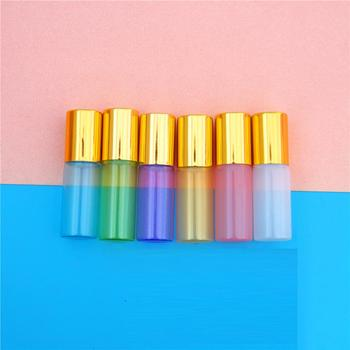 5ml Glass Roller Bottles,Pearl White Empty Roll on Bottle for Essential Oil,Perfume,Mini Sample Vial Cosmetic Packing container