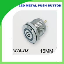 metal push button LED Light 16mm Metal Momentary Push Button Switch 1PCS character illuminated