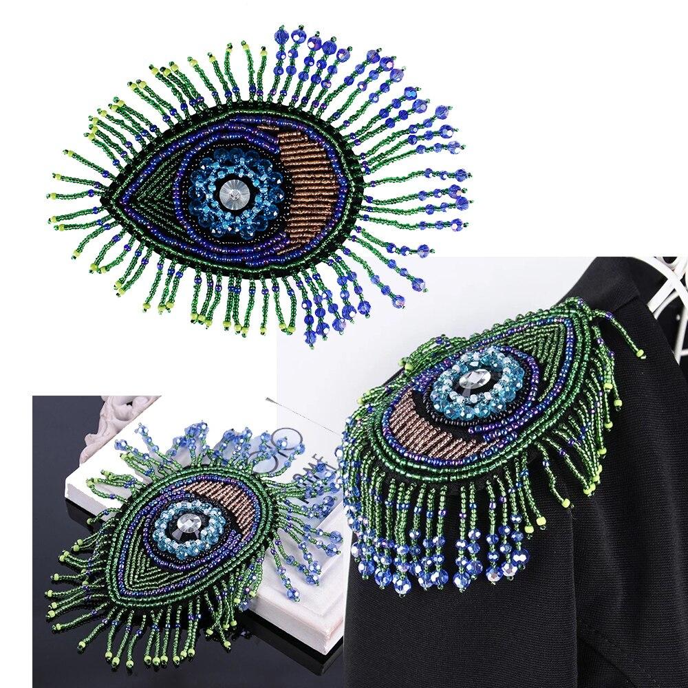 1pieces Handmade Special Beaded Eye Eyelash Design