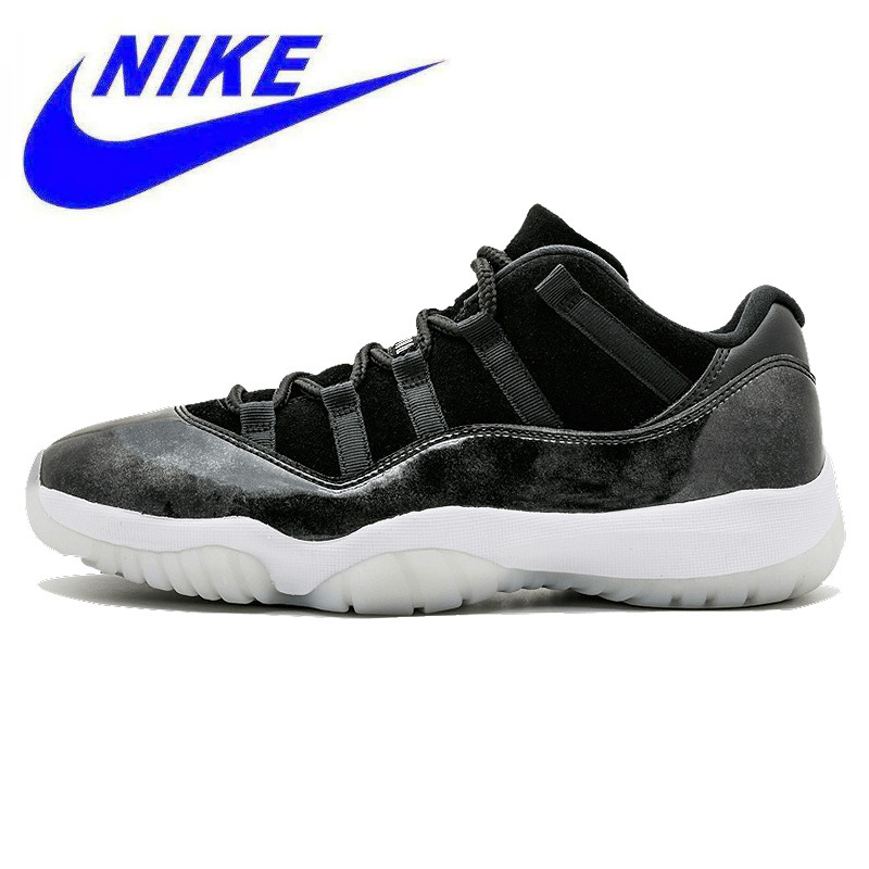 purchase cheap e167b 10f1e Detail Feedback Questions about Original Nike Air Jordan 11 Retro Low Men s Basketball  Shoes, Dark Gray, Non Slip Abrasion Resistant Lightweight 528895 010 ...