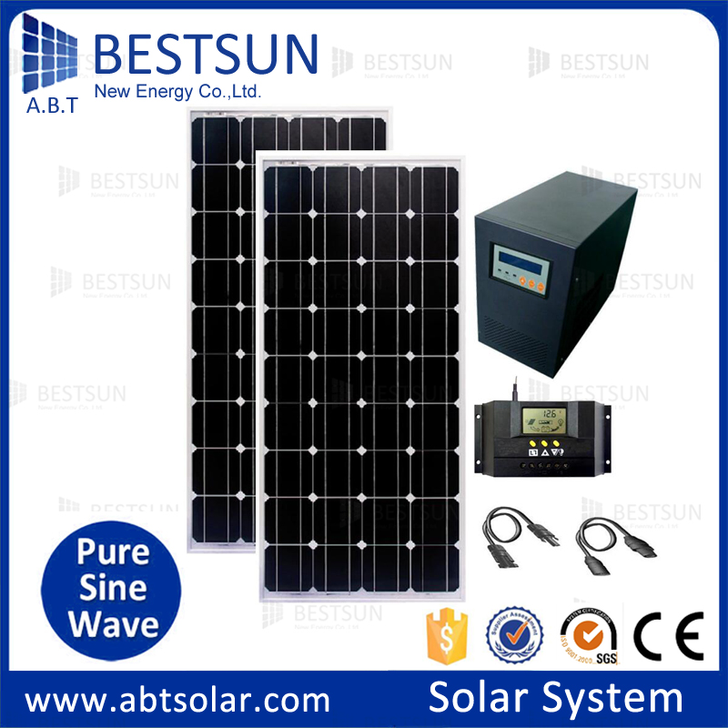 500w 800w Off Grid Solar System With 110 Volt For Small House