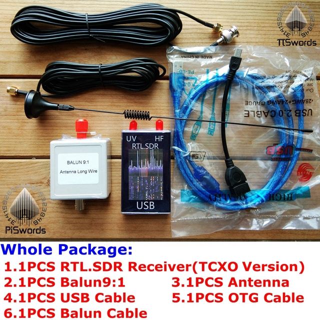 US $49 5 |USB RTL SDR RTL2832U+T820t2 TCXO VHF UHF radio dongle wide Covers  100KHz 1 7GHz bands SDR receiver-in Demo Board from Computer & Office on