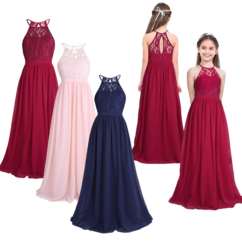 FEESHOW Summer Girls Dress Children's Clothing Party Princess Baby Kids Girls Clothing Wedding Dresses Prom Dress Teen Costume