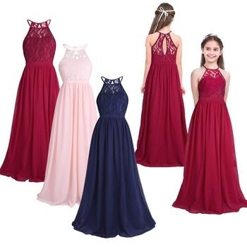 32dc9a637 FEESHOW verano niñas vestido ropa para niños fiesta princesa bebé Niñas Ropa  vestidos de boda Vestido de graduación disfraz adolescente