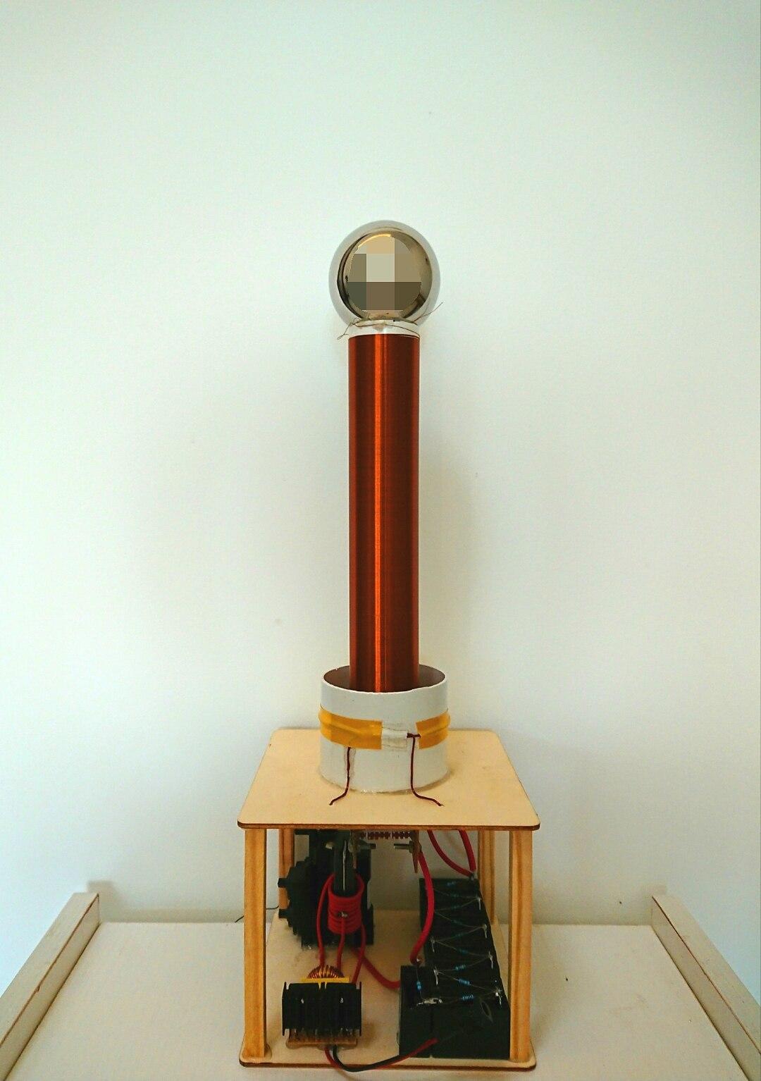 Étincelle écart Tesla bobine Kit bricolage technologie pour fabriquer sans fil Transmission éclairage lampe Arc de pulvérisation Arc