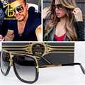 One Brand designer Men Sunglasses 2017 Women Vintage Sun Glasses female Oculos De Sol lunette de soleil femme sunglases