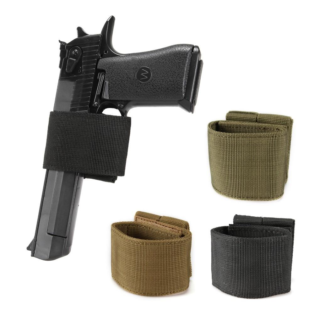 Tactical Universal Gun Holster Patch Modular Pistol Combat Airsoft Simple Hook & Loop