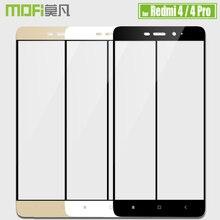 Xiaomi Redmi 4 закаленное Стекло Redmi 4 Pro Экран протектор Mofi 2.5D полное покрытие прозрачный защитный Стекло Флим Для Redmi 4 Премьер