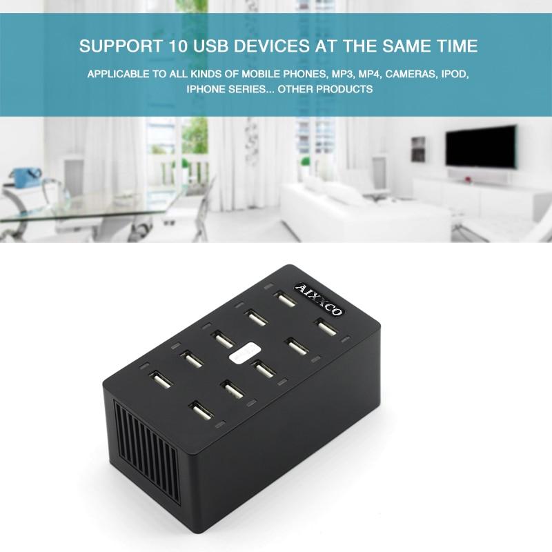 Φορτιστής USB AIXXCO 50W 10 θύρες USB 10A - Ανταλλακτικά και αξεσουάρ κινητών τηλεφώνων - Φωτογραφία 6