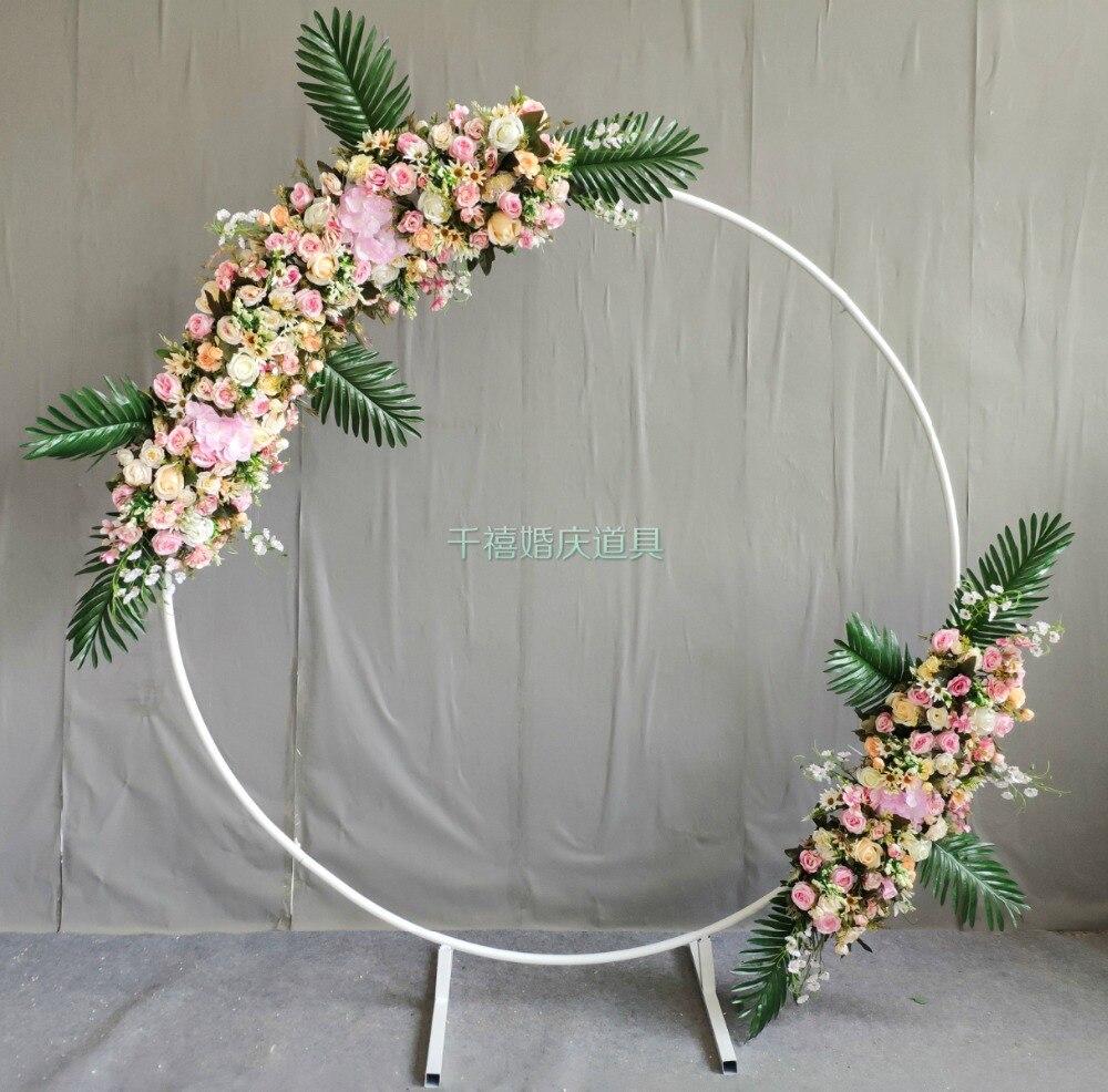 Cadre de couronne en métal pour porte d'arc de mariage et support de bulle de fleur conduit de route de mariage