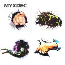 Multi style 3D Simulation Car Styling Monster stickers Black hole Snake Car Sticker Motorcycle Car Accessories
