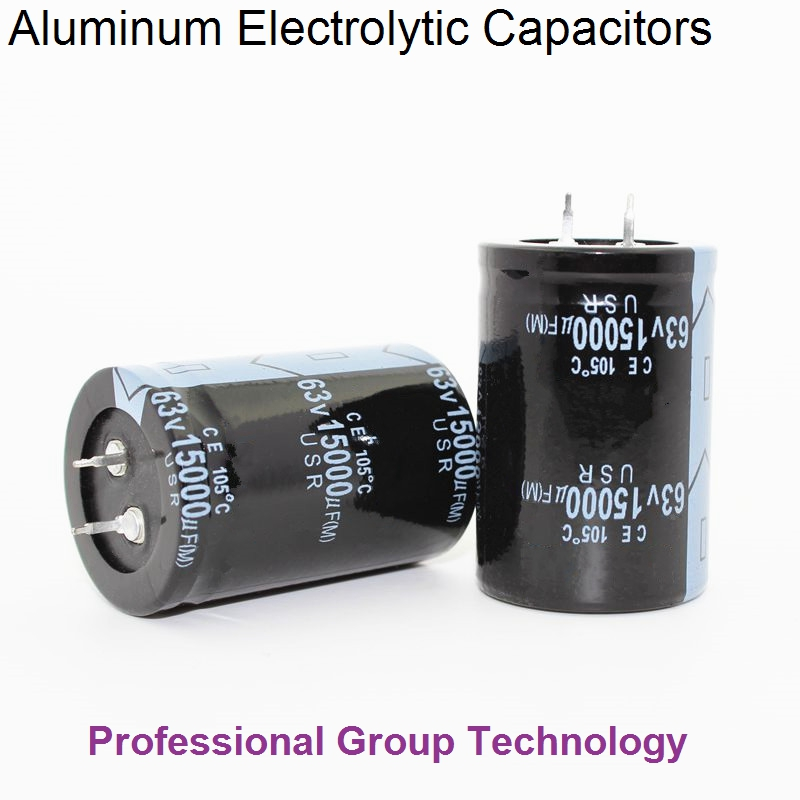2pcs EC003 Good Quality 63v15000uf Radial DIP Aluminum Electrolytic Capacitors 63v 15000uf Tolerance 20% Size 35x50MM 20%