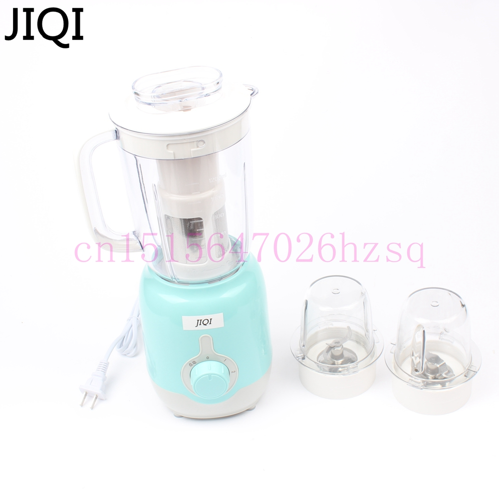 JIQI Food processor Juicer Mixer Mincer Blender Multifunctional electric household  Meat Drinder Chopper Stirring 1.2L 200W glantop 2l smoothie blender fruit juice mixer juicer high performance pro commercial glthsg2029