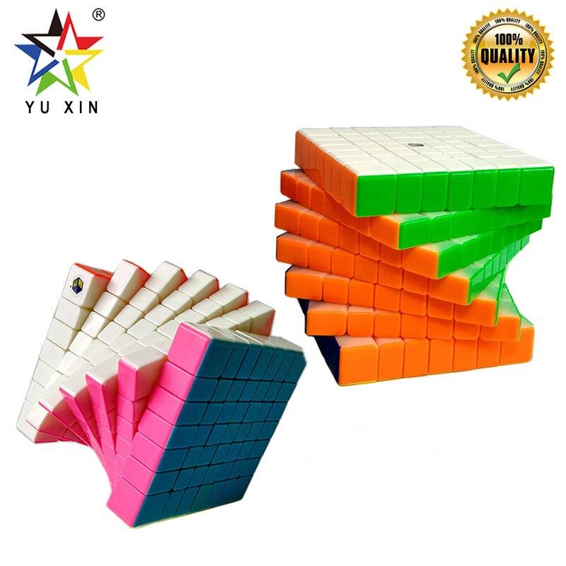 2019 YUXIN professionnel vitesse Cube 7x7x7 compétition vitesse magique Cube torsion Puzzle jouets pour enfants cadeau néo Cubes Magico Cubo
