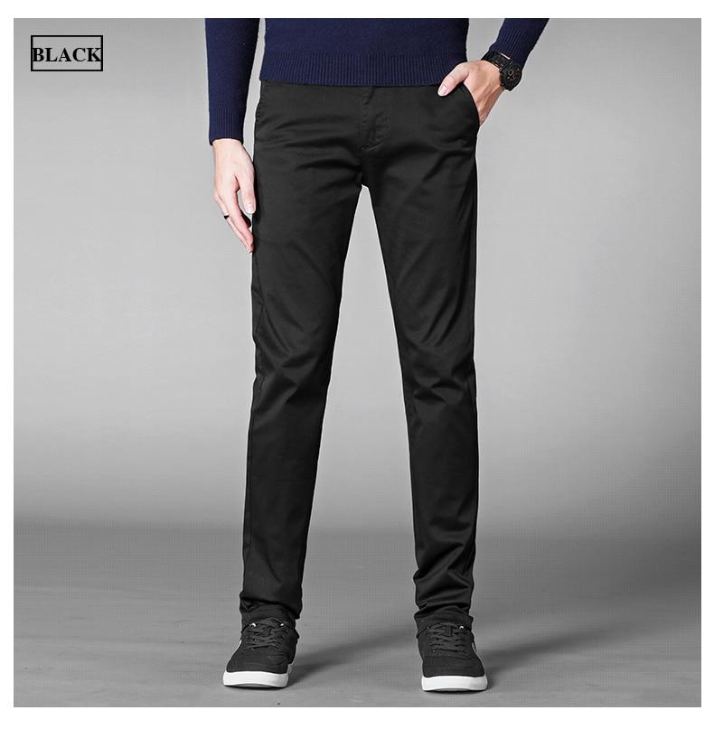 HTB1ffoAajnuK1RkSmFPq6AuzFXao 4 Colors Casual Pants Men Classic Style 2019 New Business Elastic Cotton Slim Fit Trousers Male Gray Khaki Plus Size 42 44 46