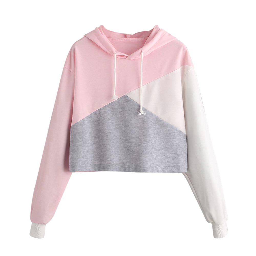 2017 Womens Hooded Sweatshirts Pink Color Heart Long Sleeve Tops Female Tumblr Moleton Blusa Feminina Clothing Dropshipping Women's Clothing