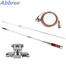 Abree HAR-7700 Banda Dual UHF/VHF 145/435 MHz 150 W Antena + Antena RB-400 Clip de Montaje + 5 M Extender Cable Coaxial para la Radio Móvil