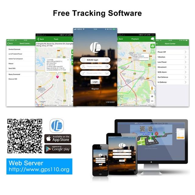 Mini GPS Car Tracker GPS Locator Free APP 10