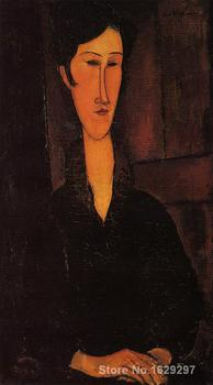 modern painting woman Portrait of Madame Zborowska Amedeo Modigliani High quality Hand painted
