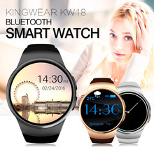 KingWear KW18 Bluetooth smart watch полный экран Поддержка SIM TF Карты Smartwatch Телефон Heart Rate for Apple Watch huawei(China (Mainland))