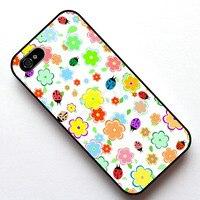 Printemps fleurs Feuilles et coccinelles Cas Couverture, cas pour Apple Iphone 4S 5 5S SE 5c 6 6 s 6 plus 6 s plus