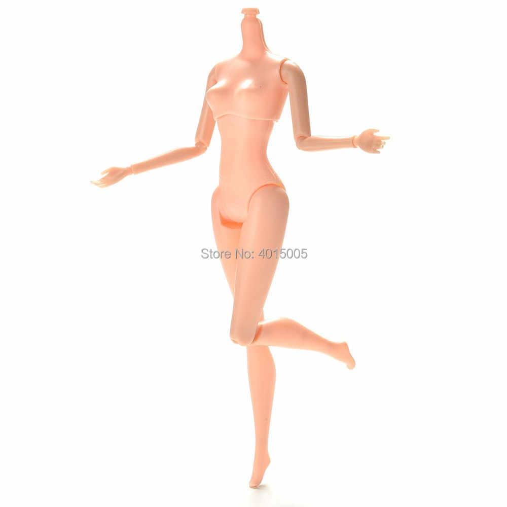 "GUANNUO TOY Hot Selling 25cm/10.23"" 12 Jointed DIY Body Without Head 1pc DIY Movable Nude Naked Doll Body For Doll House"