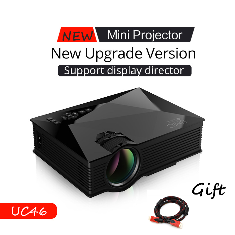 2016 hot unic uc46 wifi portable led video home cinema for Hdmi mini projector reviews