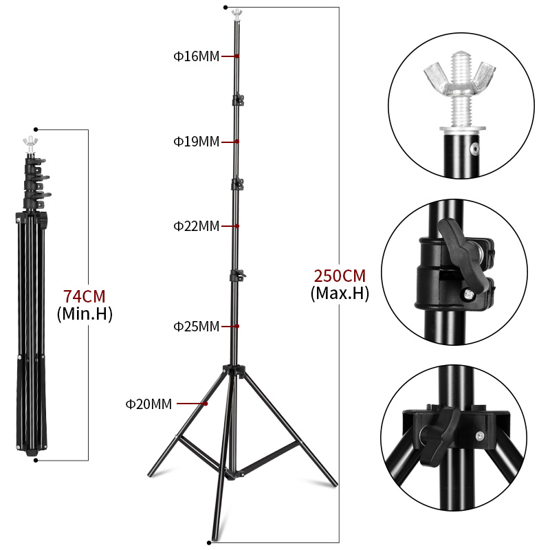 Image 5 - Photo Video Studio Backdrop Background Stand,Photography Adjustable Backgrounds Support System With Carry Bag For Praty Wedding-in Background from Consumer Electronics