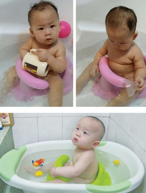 New Kids Anti Slip Safety Chair 4 Colors Baby Bath Tub Ring Seat ...