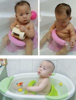 New Kids Anti Slip Safety Chair 4 Colors Baby Bath Tub Ring Seat, Toddler Bath Seat Ring Non Anti Slip Safety Chair Mat Pad Tub