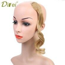 DIFEI, градиентные челки, бесшовные синтетические волосы для наращивания, натуральные, настоящие, высокотемпературные волосы для наращивания, зажим для женской челки