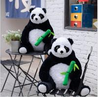 1pc 50cm simulation cute panda with bamboo big plush doll hold pillow infant kids gift stuffed toy home decoration