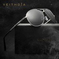 2017 New VEITHDIA Mens Sunglasses Brand Designer With Original Case Polarized Vintage Sun Glasses oculos de sol masculino VT2556