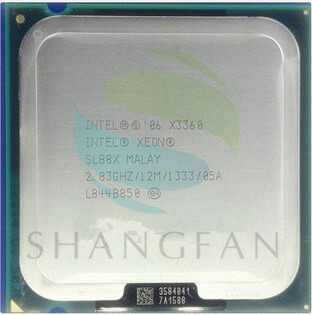 Free shipping for  Intel Xeon X3360 SLAWZ SLB8X Quad Core 2.83GHz LGA 775 95W 12M Cache Server CPU scrattered