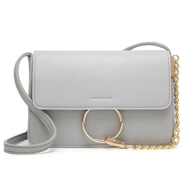 2017 New Women Long Strap Handbags Pu Leather Crossbody Chain Mini Messenger Bags Small Flap Shoulder