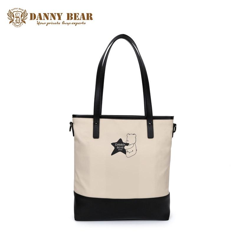 все цены на  DANNY BEAR High Quality Vintage Girls Handbag Fashion Women Handbags Large Travel Tote Bag Bolso de las mujeres Bolsa feminina  онлайн