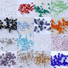 5301 2 мм 1000 шт стеклянные кристаллы бусины биконус граненый свободный разделитель бисер DIY Изготовление ювелирных изделий U выбрать цвет