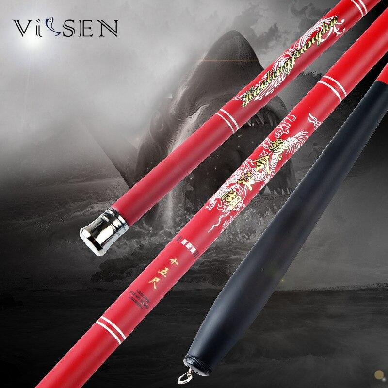 Vissen Fishing Rod Carp High Carbon Fiber Stream Super Hard Stream Telescopic Fishing Rods Handhold Fishing Pole Tackle 2.7-7.2M