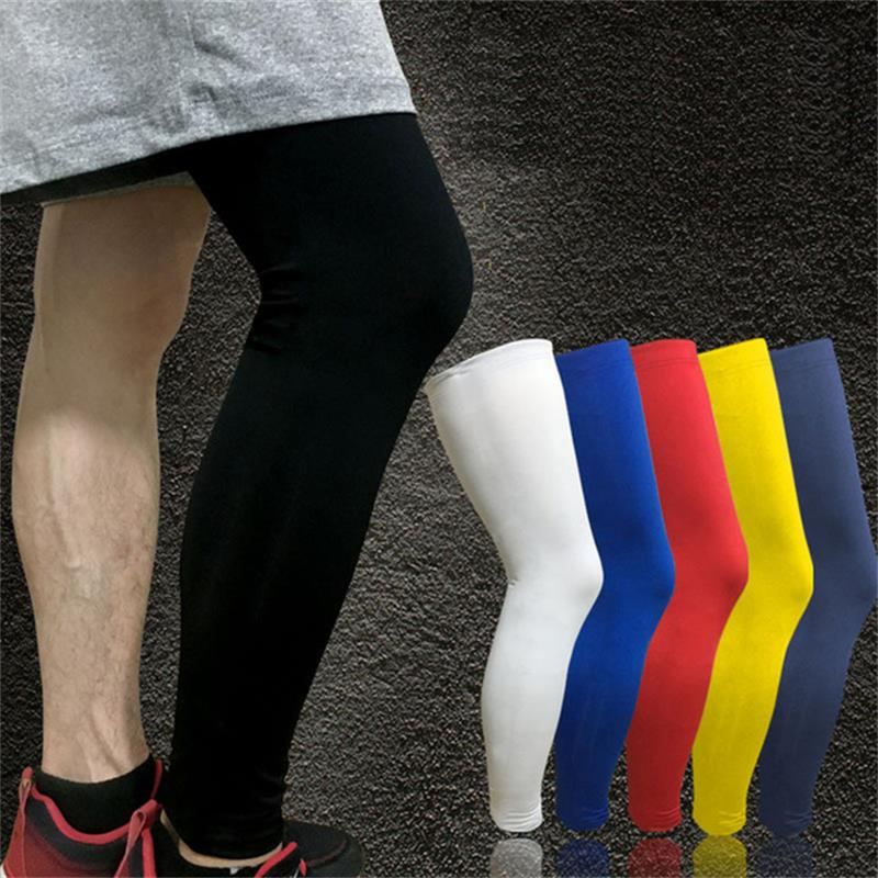 1PCS Professional Basketball Knee Pads Running Fitness Training Long Leg Sleeve Sport Protector Cycling UV Sun Leg Warmers