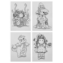 8 узоров, прозрачные силиконовые штампы для скрапбукинга, альбом для фотографий, поделок, декоративные детские игрушки, подарки