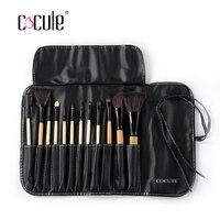 Cocute Pro 18 12pcs Set Makeup Brushes Powder Foundation Eyeshadow Eyeliner For Lip Brush Palette Hand
