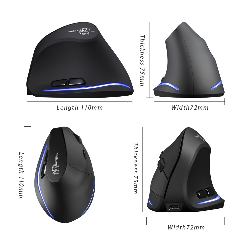 Wireless Mouse Vertical Mouse Ergonomic Optical 2400 DPI 6 Buttons ergonomic Mause for Windows MAC OS for computer laptop in Mice from Computer Office