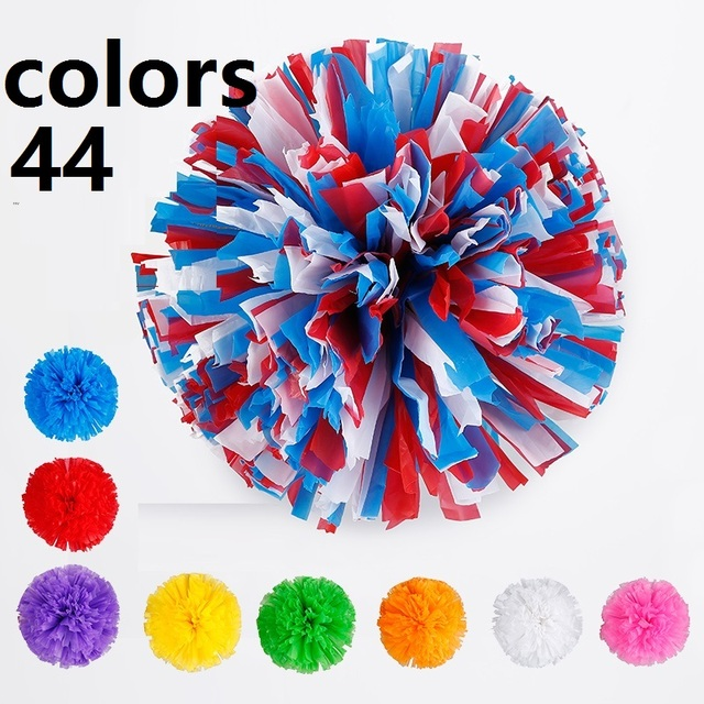 Cheerleader Pompon,Cheerleading Pom Poms,Cheer Leader Ponpon,Cheering Pon Pons,Dancer Cheerleader NonFading 44colors Kids